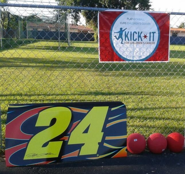 Jeff Gordon's fight for cancer.