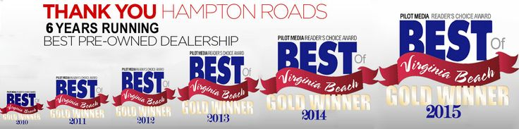 "We are honored and humbled! Thank you for voting us ""Best Of Virginia Beach Again""!"