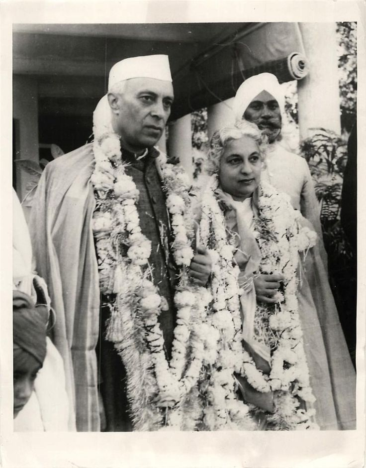 Indian Prime Minister Jawaharlal Nehru and his sister Vijaya Lakshmi Pandit during visit to annexed Hyderabad - 1949