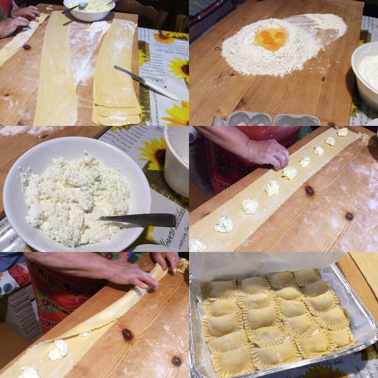 Ravioli-making with Maria up on the mountain.