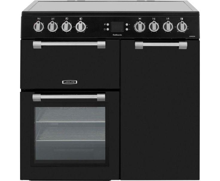 Leisure Cookmaster CK90C230K 90cm Electric Range Cooker with Ceramic Hob - Black