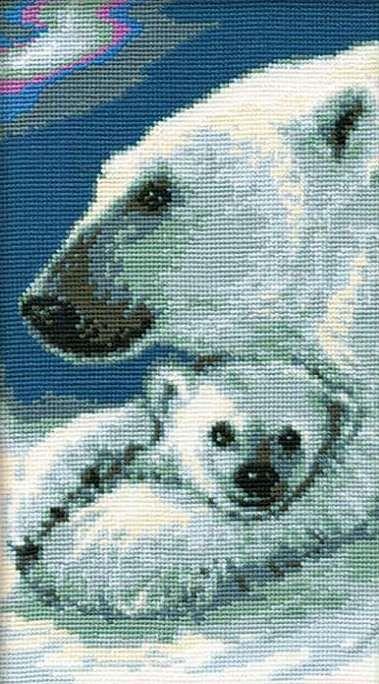"""Скачать Вышивка """"Северное сияние"""" бесплатно. А также другие схемы вышивок в разделах: , Riolis, Дикие животные"""