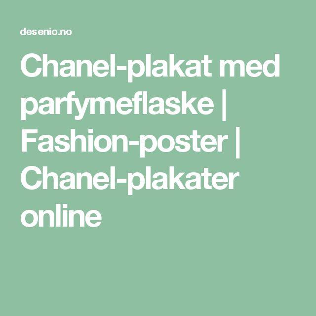Chanel-plakat med parfymeflaske | Fashion-poster | Chanel-plakater online