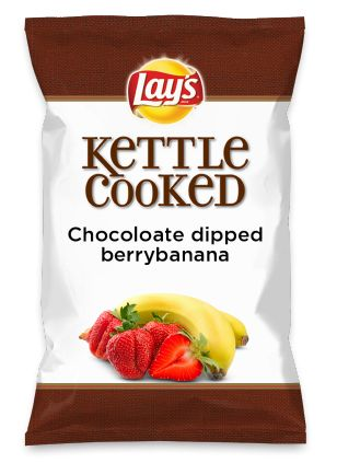 Wouldn't Chocoloate dipped berrybanana be yummy as a chip? Lay's Do Us A Flavor is back, and the search is on for the yummiest chip idea. Create one using your favorite flavors from around the country and you could win $1 million! https://www.dousaflavor.com See Rules.