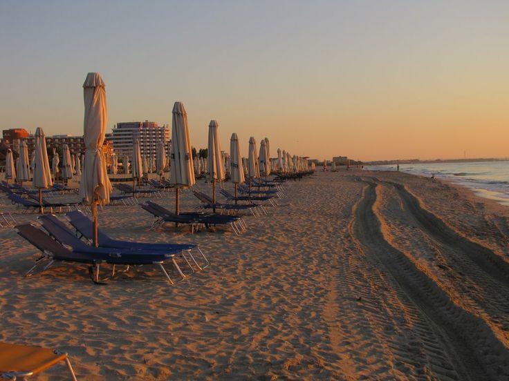 Morning in Mamaia Beach, Romania