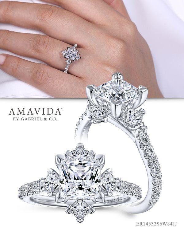 Pin On Three Stone Engagement Ring