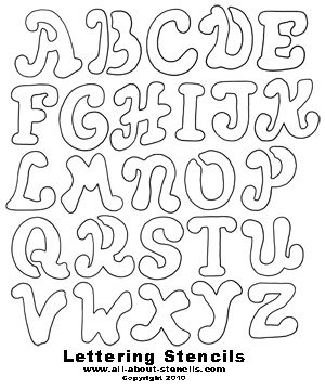 large font letters of alphabet | Free Printable Letter Stencils Great for School Projects to Home ...