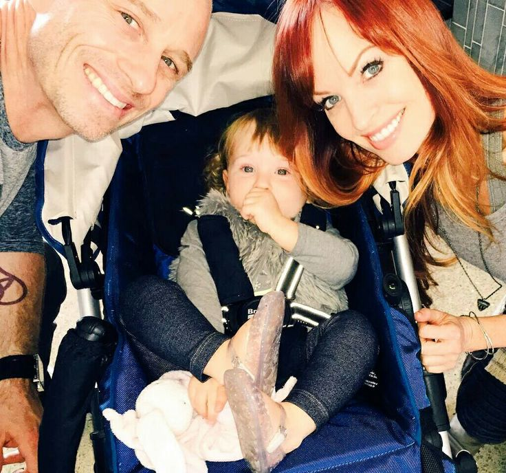 Former WWE Diva Christy Hemme, her husband Charley Patterson, and their daughter Charlie Rose #WWE #TNA