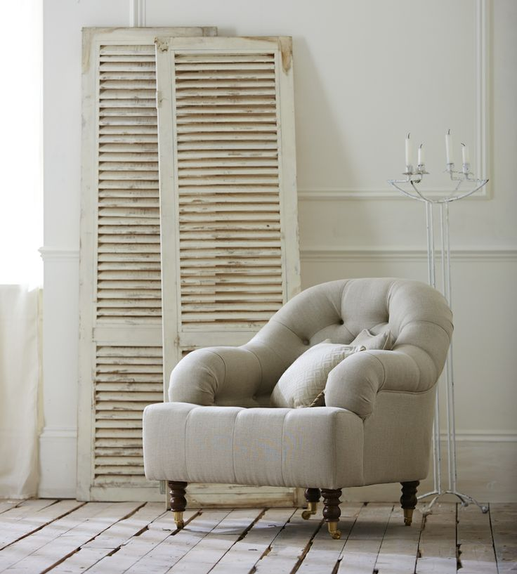 Rustic Living | Slubby Linen Fabric by Warwick | Jane Clayton