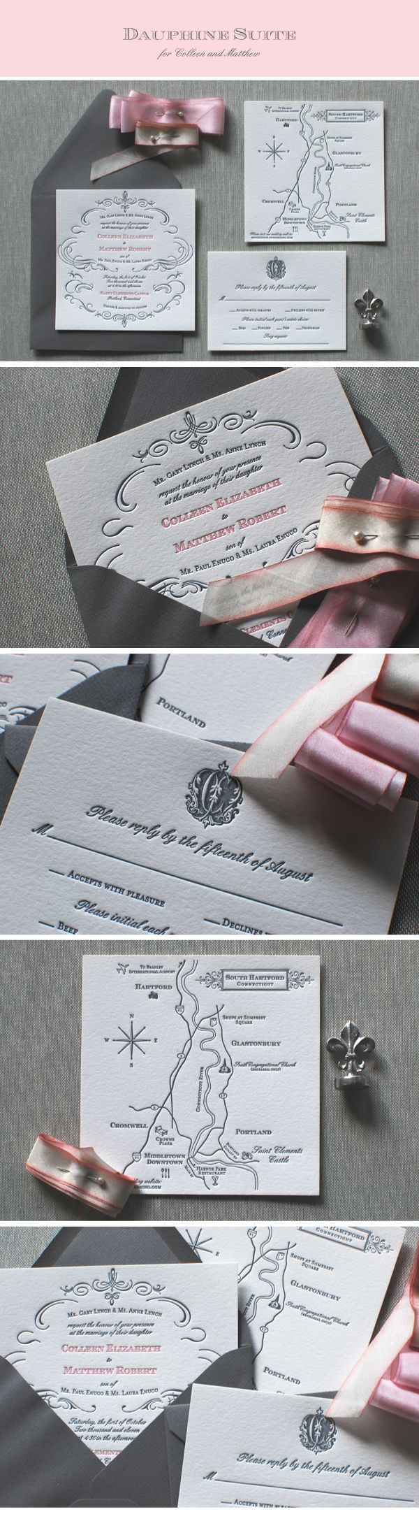 crane stationery crane wedding invitations This French inspired wedding suite printed on Pearl Crane Lettra is so classic and elegant