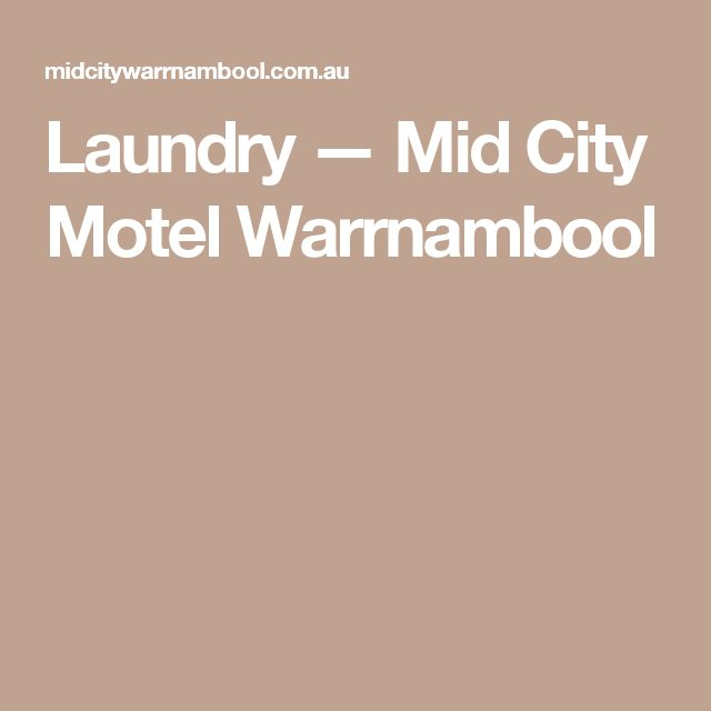 Laundry — Mid City Motel Warrnambool