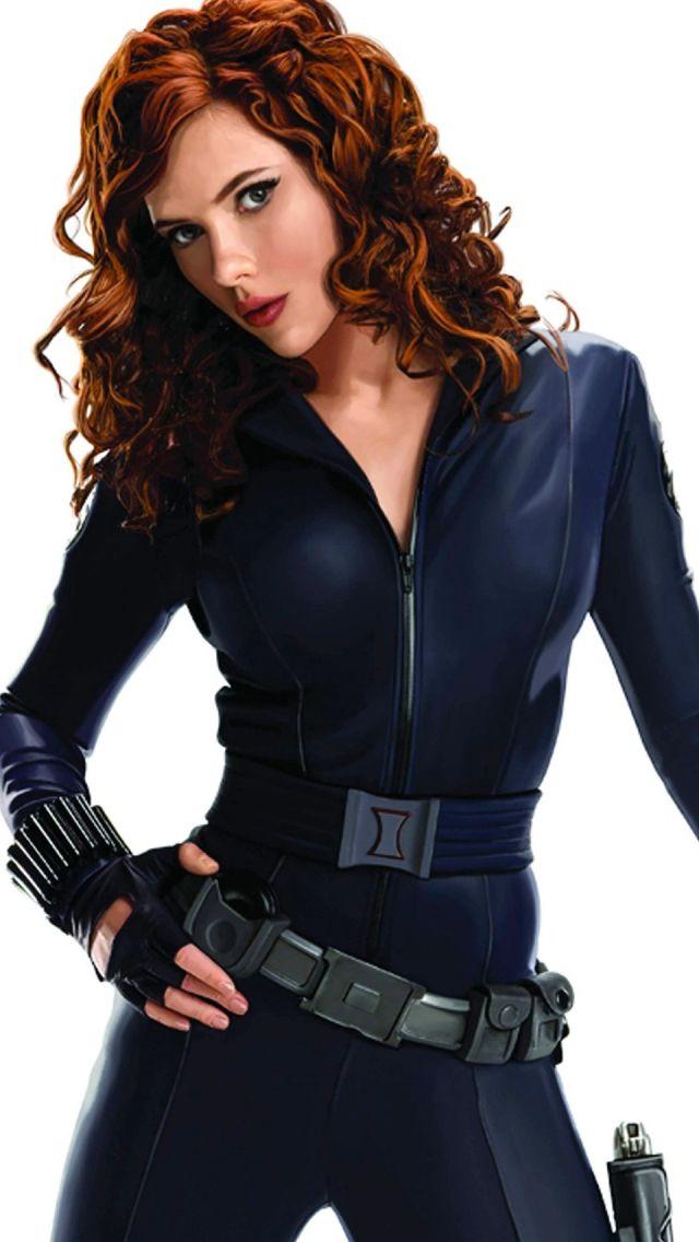 Black Widow Scarlett Johansson iPhone 5s Wallpaper