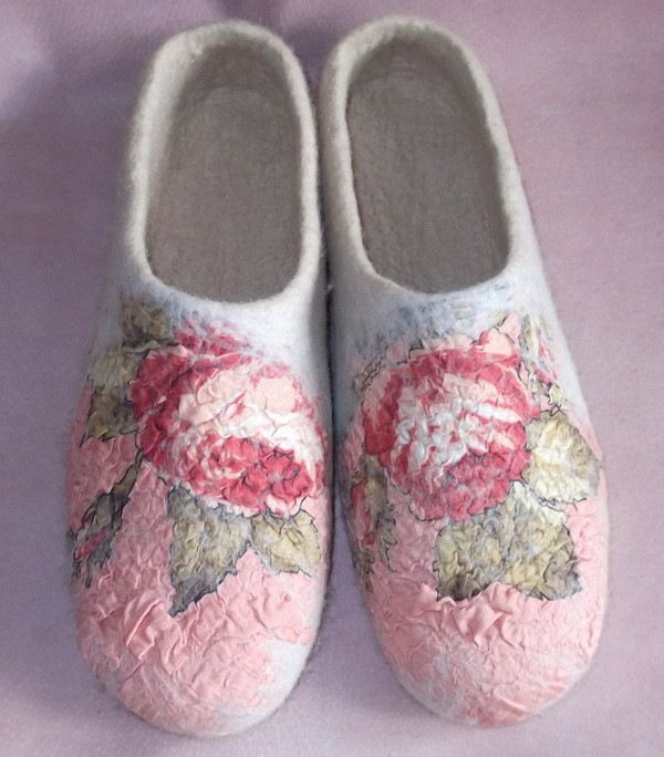 Nuno-felted slippers Gallery.ru / Фото #20 - ИРИНА ПОЛУБОЯРИНОВА - renew