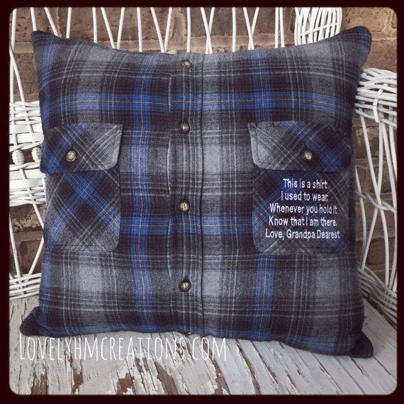 memory pillow pillow insert and embroidery message 18x18 or by etsy