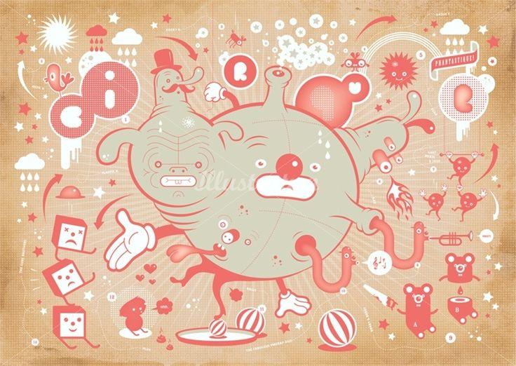 Mark Moget and Taco Sipma duo cartoon illustrators, specialized in graphic design