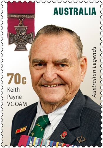 "KEITH PAYNE VC OAM  ~   2015 Legends Award recognises five Australians who have received the Victoria Cross, the highest honour that can be bestowed for acts of valour ""in the presence of the enemy""."