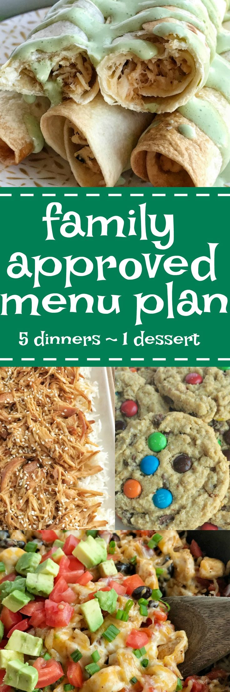 Family menu plan that your entire family will love! Easy, family approved, simple ingredients, and delicious food to enjoy together! www.togetherasfamily.com Together as Family Blog