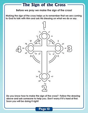 The Sign of the Cross: Dot-to-Dot (For Quiet Book)
