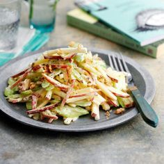 Healthy Waldorf salad recipe. For the full recipe and more like this, click the picture or visit RedOnline.co.uk
