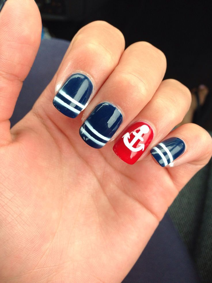 Marine Themed Nail Art Designs - Best 25+ Nautical Nail Designs Ideas On Pinterest Nautical Nails