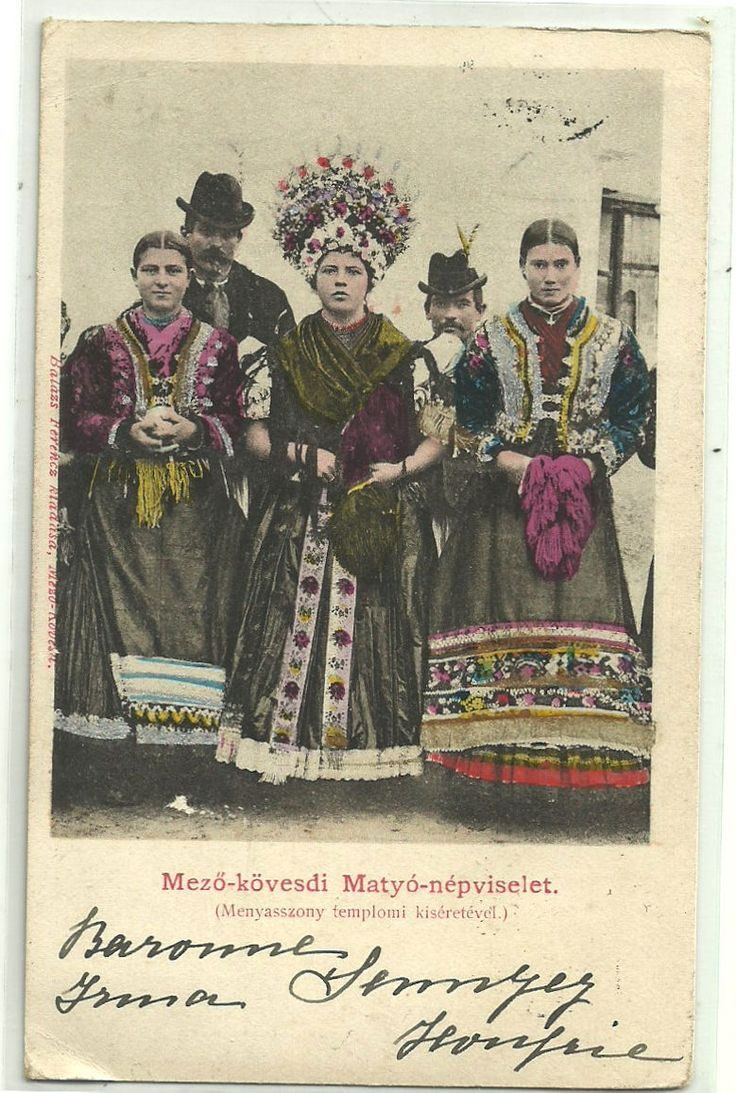 Brides Bridesmaids Matyó Costumes Mezőkövesd Hungary Old Postcard | eBay