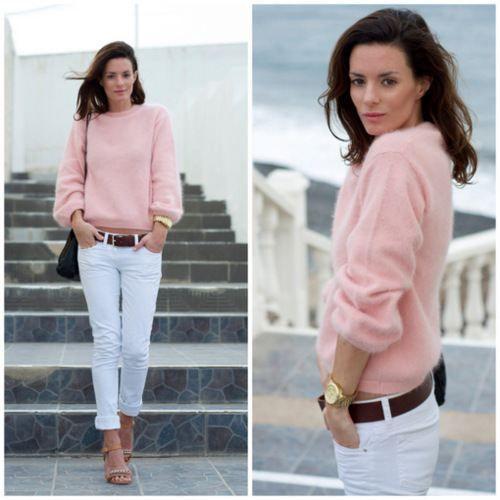white fashion 25 WHITE pants? Why not! (26 photos)
