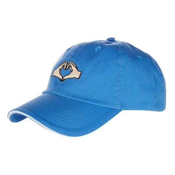Women's Topshop Heartbreak Baseball Cap (€19) ❤ liked on Polyvore featuring accessories, hats, blue, blue ball cap, embroidered baseball caps, baseball caps, sport hats and embroidered hats
