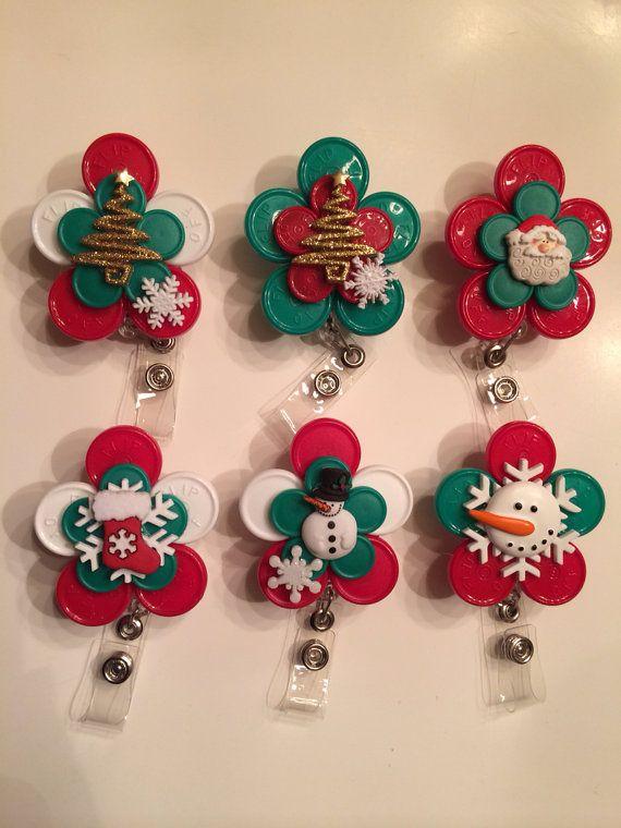 CHRISTMAS Flip Off Holiday Registered Nurse ID BADGE Holder