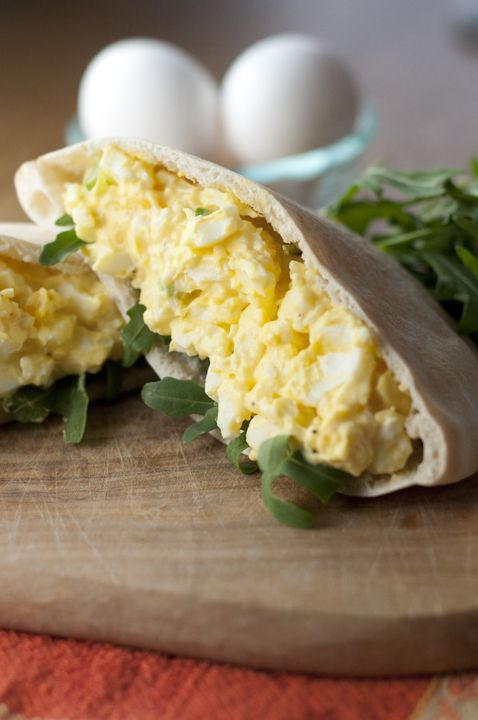This creamy old-fashioned egg salad recipe can be served on crunchy lettuce, toasted bread, or in a pita for a quick and easy lunch idea. Great for using up Easter eggs!