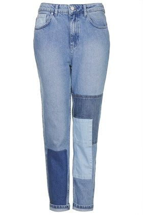 MOTO Patchwork Mom Jeans