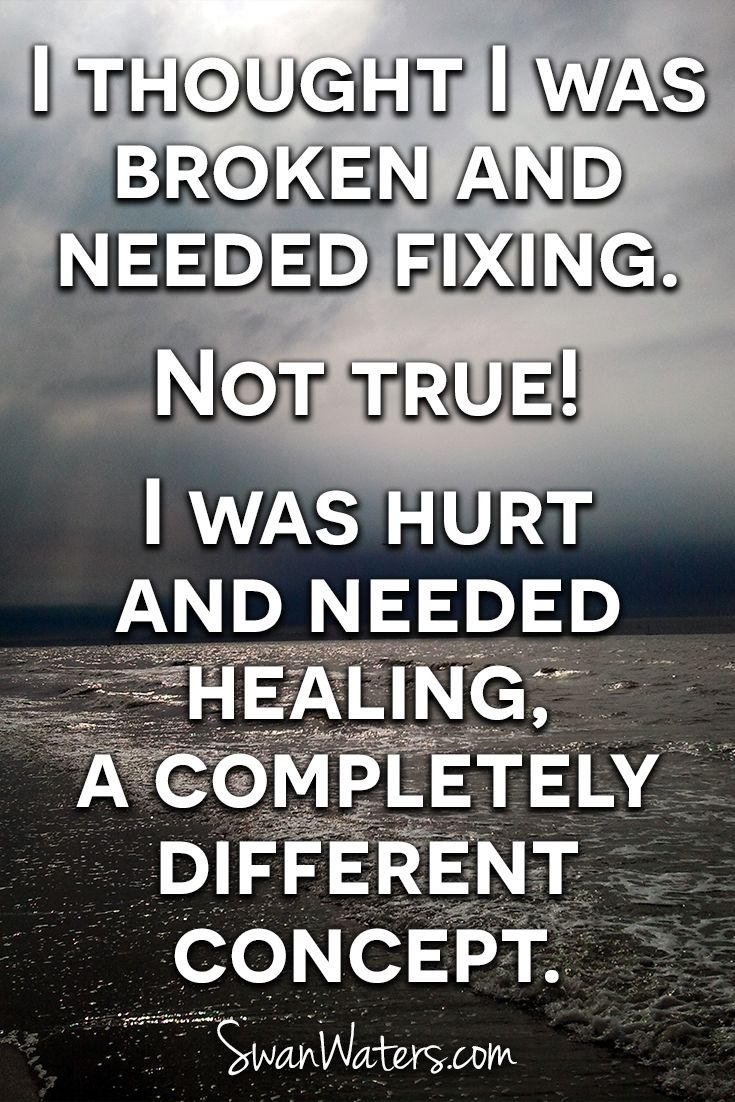The understanding of the difference between fixing and healing is and essential part of your journey!