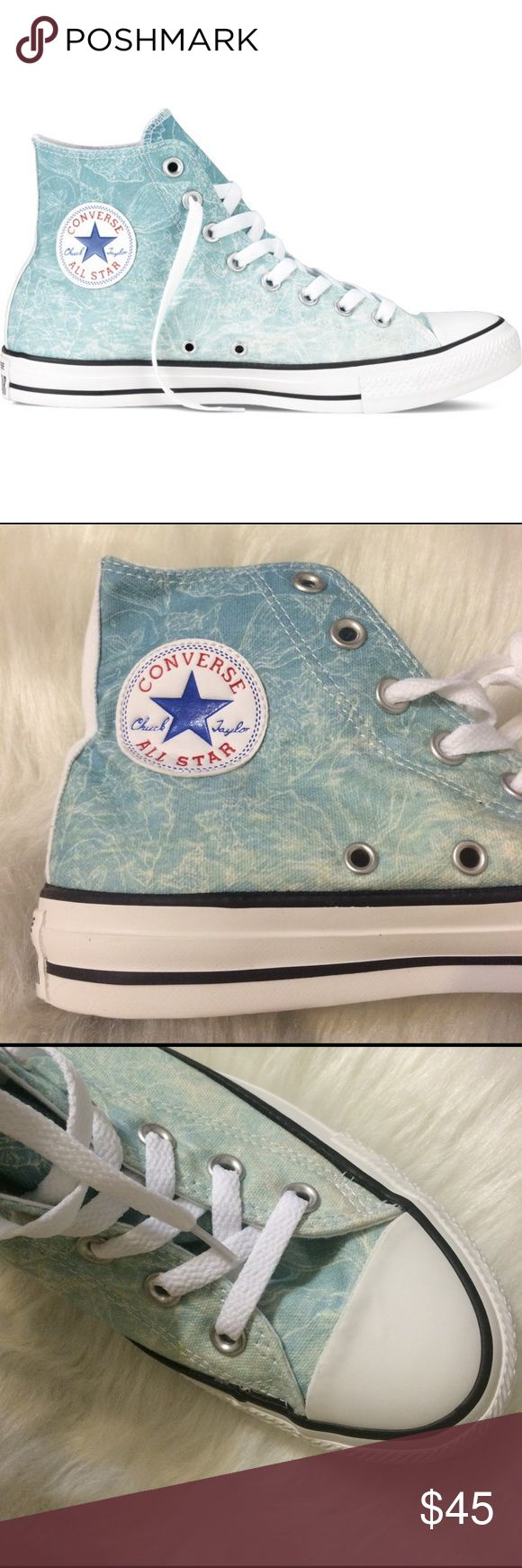 CONVERSE WOMENS BLUE WHITE SIZE 7 SHOES HI TOPS Brand new Converse Shoes Sneakers