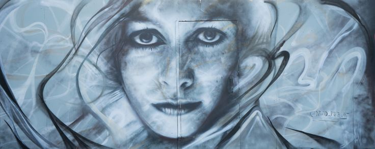 """A street art mural I have done in Finland. """"Immovable"""" spray paint"""