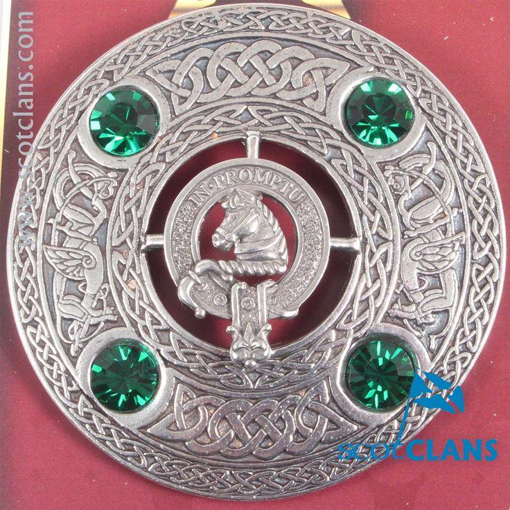 Dunbar Clan Crest Plaid Brooch