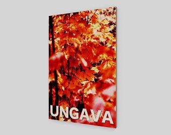 Collection Ungava: Les couleurs de l'automne en forêt boréale. Photographie sur film originale imprimée sur bois.