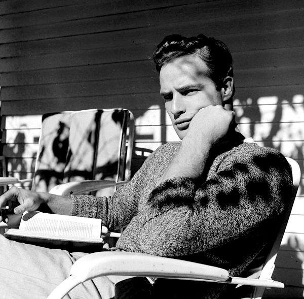 """Marlon Brando photographed by Edward Clark, 1949."""