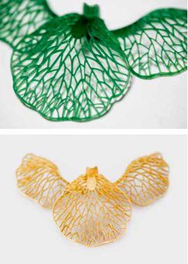 Ilgiz F. Jewellery wax model and molding of Iris pendant