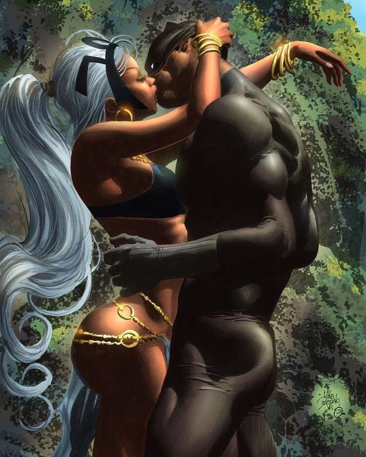 The King Black Panther and His Queen Storm Jungle Love  @mikedeodato bring the…