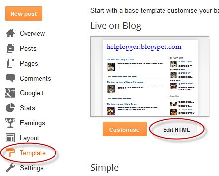 Add floating social media sharing buttons below Blogger post titles | Helplogger