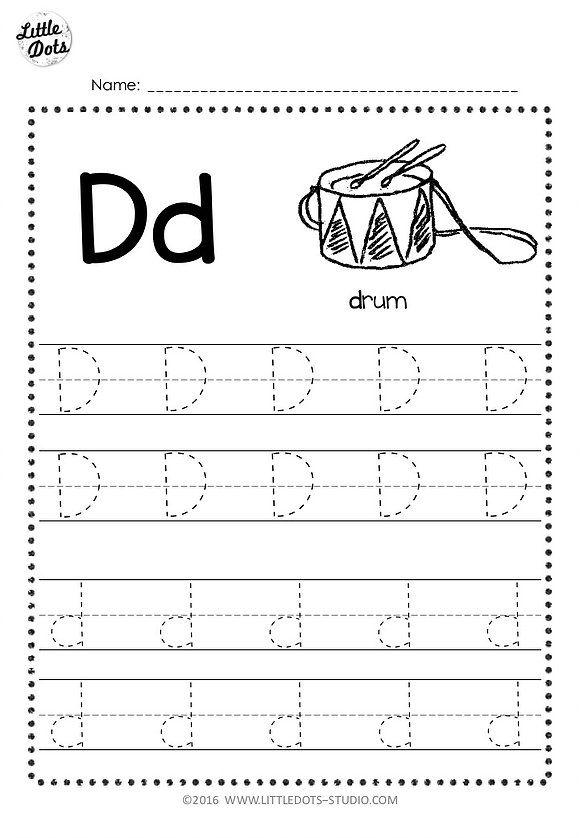 Free Letter D Tracing Worksheets | Little Dots Education | Preschool ...