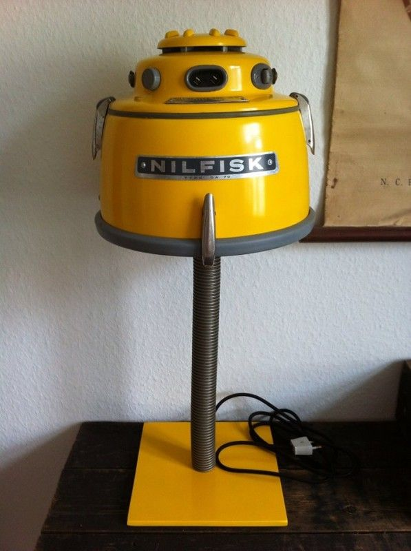 Lamps from recycled Nilfisk vacuums | Recyclart