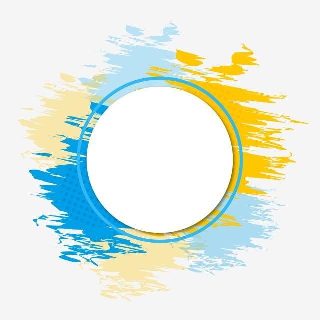 Bright Color Circle Trendy Watercolor Frame Watercolor Splash