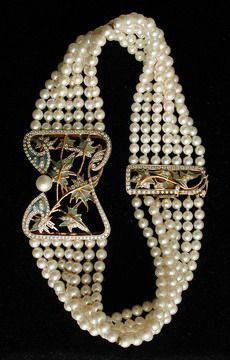 Art Nouveau Jewelry, Masriera Necklace   JV
