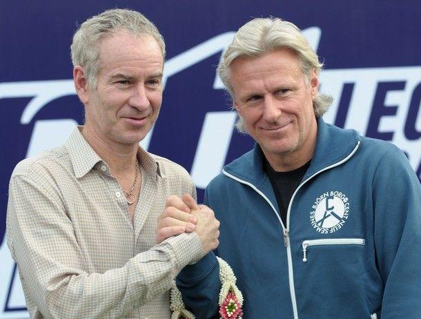 Tennis greats McEnroe and Borg, 2010