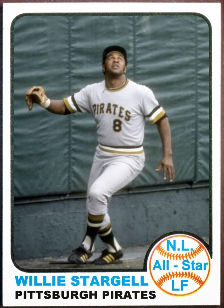 1973 Topps Willie Stargell All Star, Pittsburgh Pirates, Baseball Cards That Never Were.