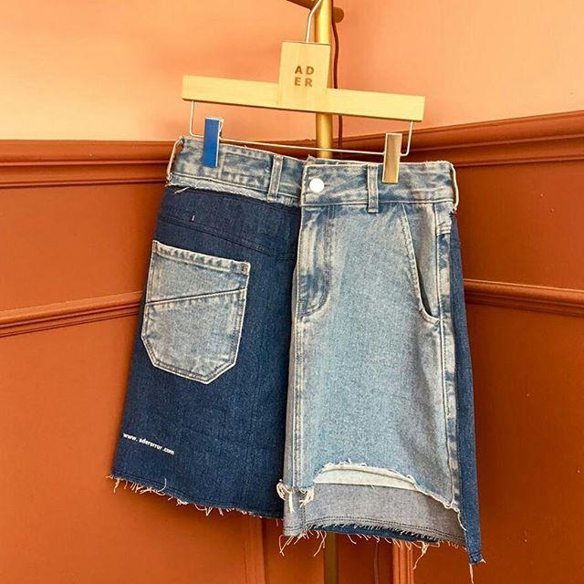Overlay denim skirt  #ader#adererror