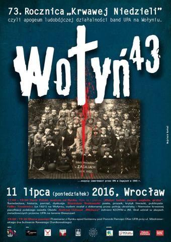 Wrocław upamiętni 73 rocznicę Rzezi Wołyńskiej