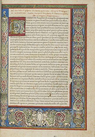 Nicolas Jenson      De Evangelica Praeparatione, imprimé par Nicolas Jenson en 1470