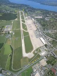 Geneva Airport. Landed here to pick up the Chairman of DSC in our G-3.