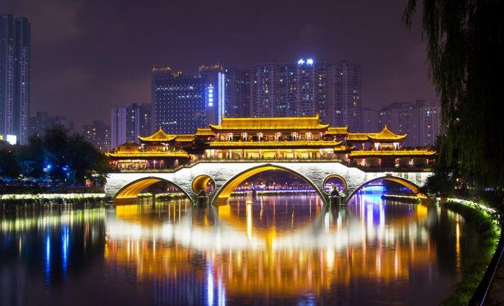 Anshun Bridge Chengdu China   Tourist spots, World ...